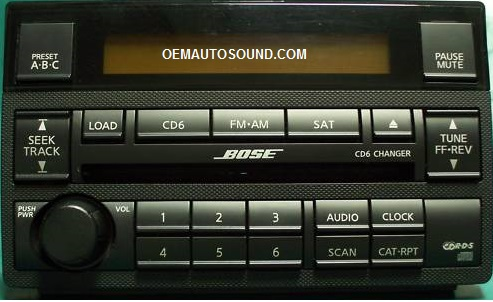 Nissan Altima Radio Cd Player 28185 Zb20b Bose 6 Disc