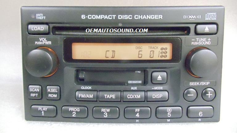 2006 Honda Accord For Sale >> Factory Radio Honda Accord CRV XM 6 CD Changer 39100-S9A-A601