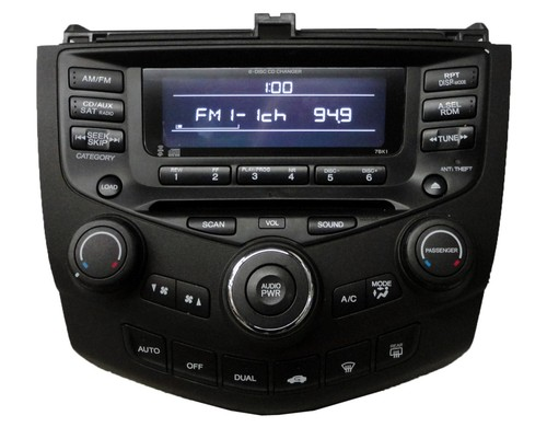 honda accord radio cd player 39175 sda l110 7bk1