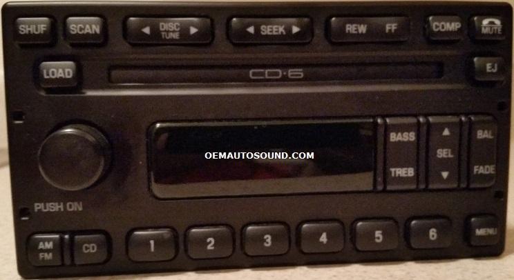 Ford Radio Cd6 Cd Changer 3c3t18c815ac Espace F150 250rhoemautosound: 2005 Ford F 150 Radio At Gmaili.net