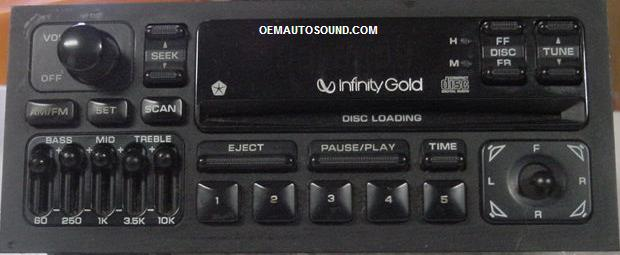Factory Radio Infiniti For Chrysler Dodge Jeep 93 To 98