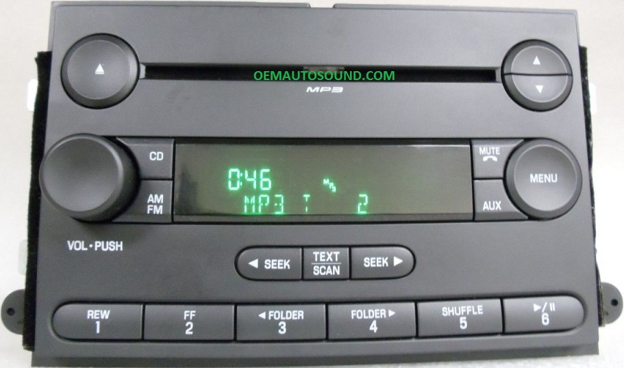 Ford Fusion Mercury Milan Cd Radio 6e5t18c869akrhoemautosound: 2007 Ford Fusion Factory Satellite Radio At Gmaili.net