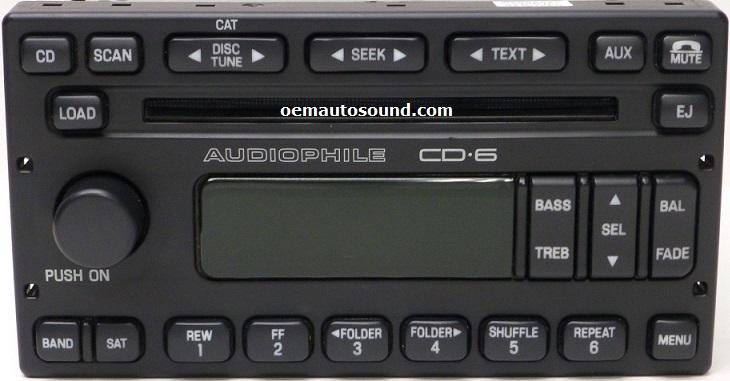 ford escape mariner factory cd radio lt  audiophile cd