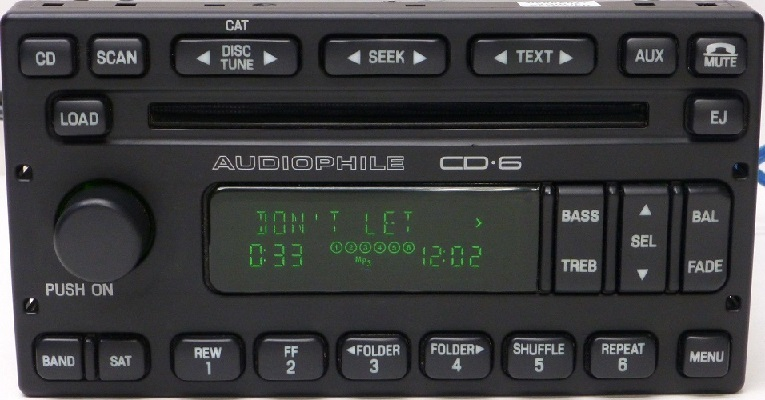 Factory Radio Ford Escape Mercury Mariner 2006 To 2007 With 6 Disc In Dash Cd Changer 6l8t 18c815 Fd
