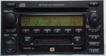Toyota Radio 6 Disc Jbl 86120 08130 Camry Avalon A56811 A56817