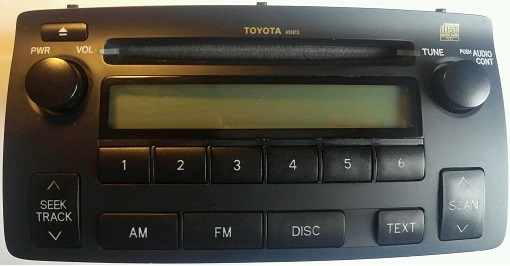 toyota corolla radio cd player 86120 02430 factory radio face 51813cd changer controls, toyota corolla 2004 2008 receiver 86120 02430, a51813 build in amplifier text ready radio is capable of controlling a ipod or aux