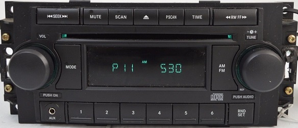 Chrysler Dodge Jeep Cd Radio P05064173af Ref Aux Input Ref