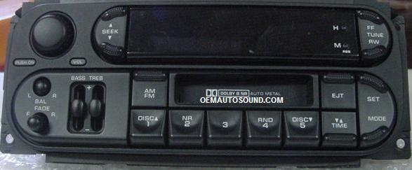 Chrysler Dodge Jeep Uam Fm Cassette Player P05064335 Ai