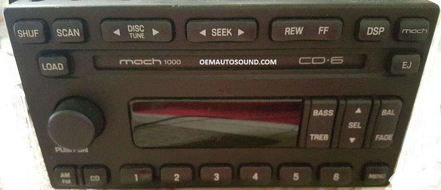 Ford Mustang Mach 1000 Radio 3r3t18c815harhoemautosound: 2002 Mustang Mach Radio At Gmaili.net
