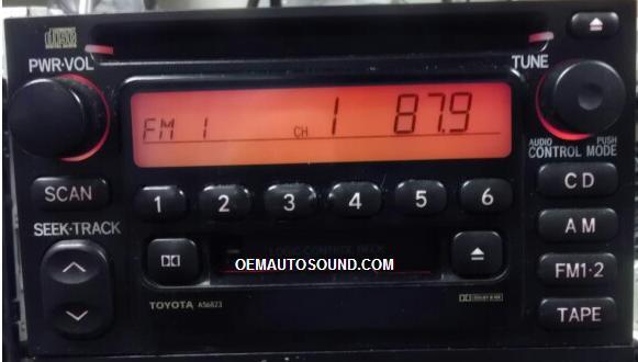 New Toyota Tacoma >> Factory radio toyota camry tacoma tundra 86120-AD040 A56815