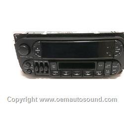 Factory Radio Chrysler/Dodge 1998 to 2002 cassette player P04858584AH