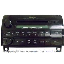 Factory Radio Toyota Tundra 2006-2009 6-Disc Changer MP3 CD Player 86120-0C201