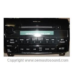 Toyota Tundra/Sequoia Factory Radio Cd Mp3 2007-2009  86120-0C211