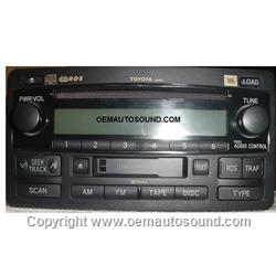 Toyota Tundra Sequoia 6 CD radio 03,04,05 JBL 86120-OC120