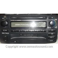 Toyota Corolla 2004-2007 am, FM Cassette cd Player 86120-02280