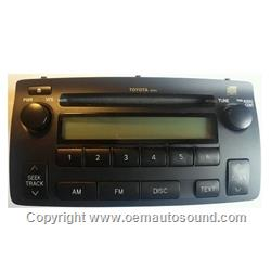 Radio Toyota Corolla 2003-2008 Cd Player 86120-02430