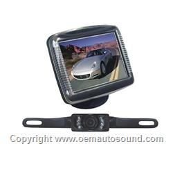 3.5 Slim TFT LCD Monitor with License Plate Mount Rearview Camera
