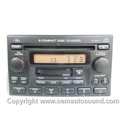 Factory Radio Honda Accord/CRV/Odyssey Radio XM TAPE and 6-CD Changer
