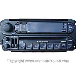 Factory Radio Chrysler,Dodge,Jeep 2002-2009 6 CD changer P05091979-AF