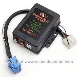 Acura Honda 2004 to 2011 dual auxiliary Audio Input interface