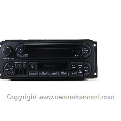 1998-2001 Chrysler Dodge  jeep Factory Radio  P04858540AC