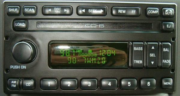 ford indash  cd changer cd  radio lt