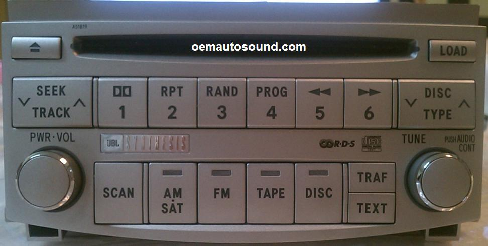 Toyota Avalon Radio Cd Changer 86120