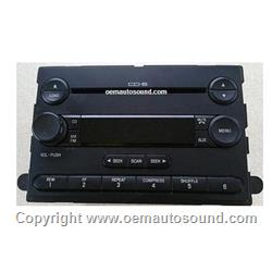 Ford F250 F350 in Dash 6-cd changer Radio 5C3T-18C815-CB