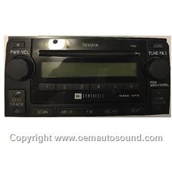 Toyota 4Runner JBL Synthesis CD6 Radio